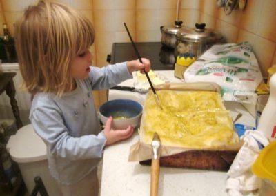 Maling - med egg på pai