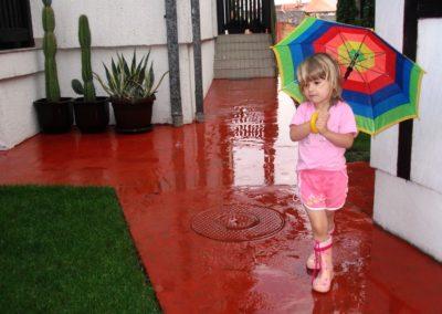 Sommerregn i Serbia